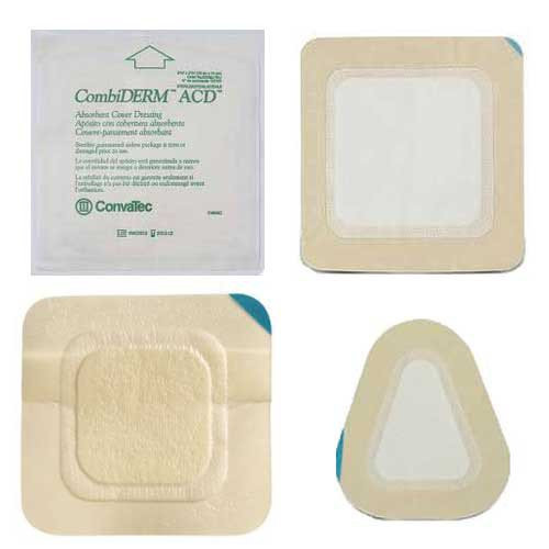 CombiDERM ACD Hydrocolloid Adhesive Cover Dressings 651031 | Square 4 x 4 Inch by ConvaTec