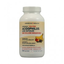American Health Acidophilus and Bifidus Chewable Fruit Dietary Supplement