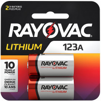 123A Rayovac Lithium Batteries