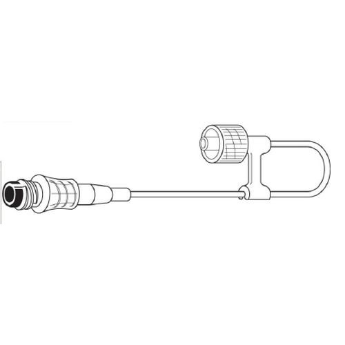 I.V. Connector Loop with an INTERLINK Injection Site, Male Luer Lock Adapter with Rotating Collar, non-DEHP