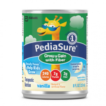 8 oz Can Pediasure Grow & Gain with Fiber Vanilla Flavored by Abbott