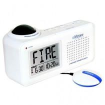 Lifetone HLAC151 Bedside Vibrating Fire Alarm and Clock