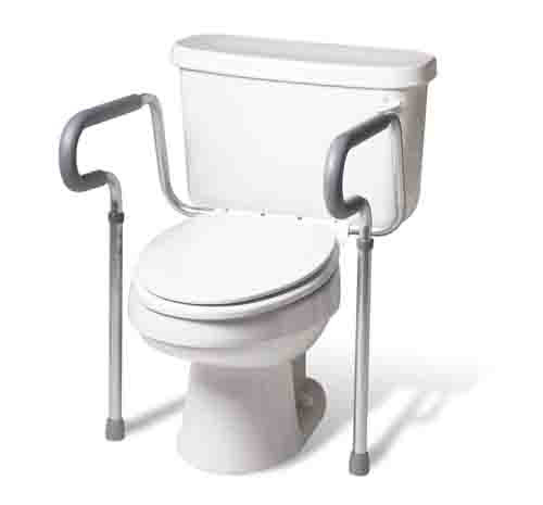 Medline's Guardian Toilet Safety Rail With Adjustable
