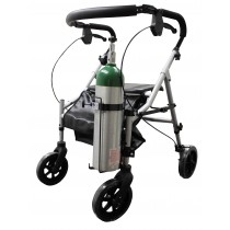 Oxygen Tank Holder for Walkers and Rollators