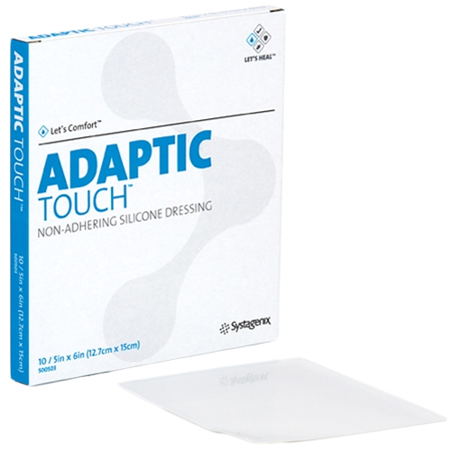 adaptic touch non adhering 5 x 6 inch silicone dressing 500503 807