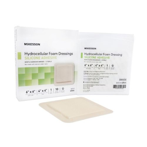 Adhesive Foam Dressing 4 x 4-3/4 Inch - Sterile