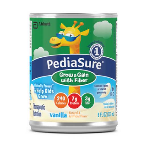 Pediasure Grow & Gain with Fiber 8 oz Can, Vanilla