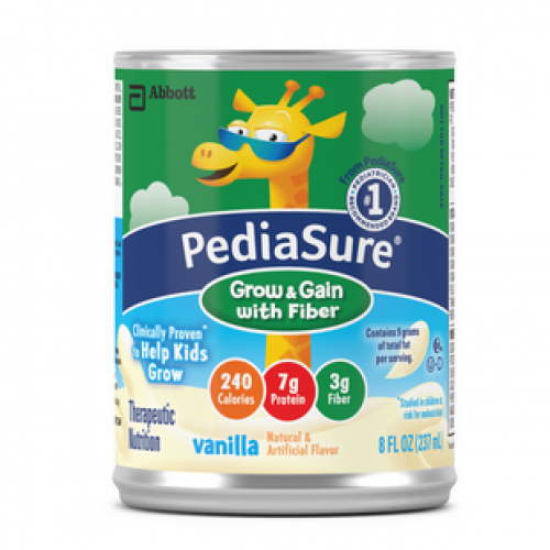 8 oz Can Pediasure Grow & Gain with Fiber Vanilla Flavored by Abbott
