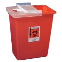 8 Gallon Red SharpSafety Sharps Container with Hinged Lid 8980