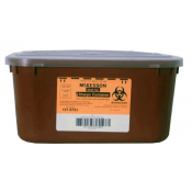 1 Gallon Red Medi-Pak Sharps Disposal Container with Horizontal Entry Lid 101-8703