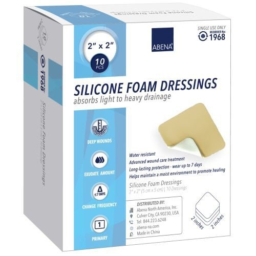 Silicone Foam Dressings with Film Backing - Sterile