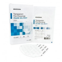 Mckesson Framed Transparent Film Dressing 4 x 4-3/4 Inch - Sterile