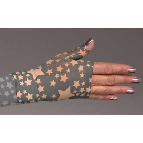 LympheDivas Stella Charcoal on Bei Chic Compression Gauntlet 30-40 mmHg