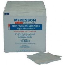 Medi-Pak 2 x 2 Inch Non-Woven Sponges High Absorbency 4 Ply - 16-42224