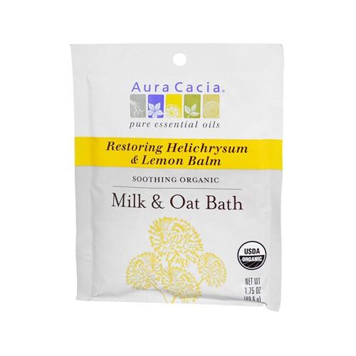 Aura Cacia Helichrysum and Lemon Balm Organic Milk and Oat Restoring Bath