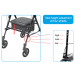 Step N Rest Rollator Height Adjustment