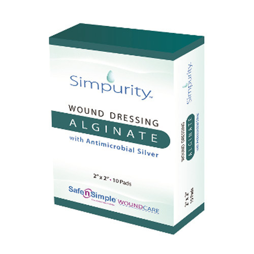 Simpurity Alginate Wound Dressing with Antimicrobial Silver