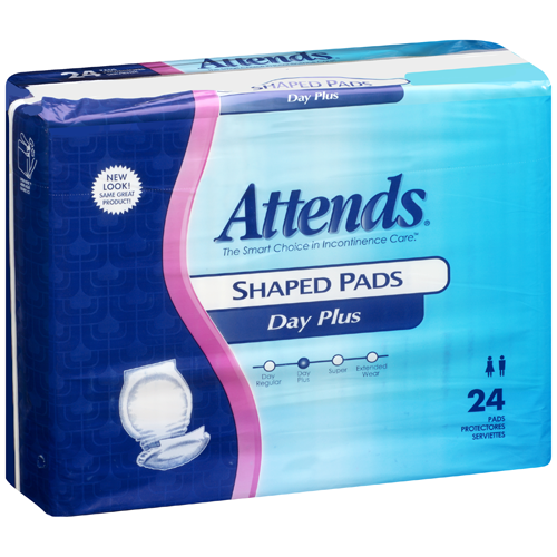 Attends Shaped Pads