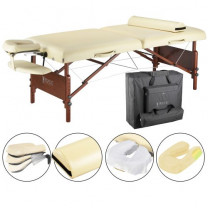 Del Ray Pro Portable Massage Table Package with Half Round Bolster