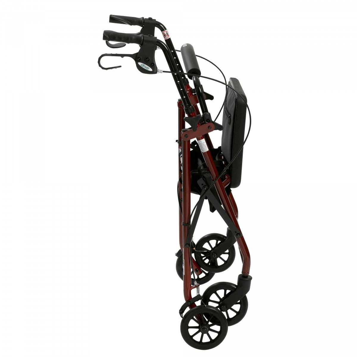 lightweight rollator with fold up and removable back support by drive 347