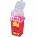 1.5 Quart Red BD Stackable Sharps Container with Dual Access 305487
