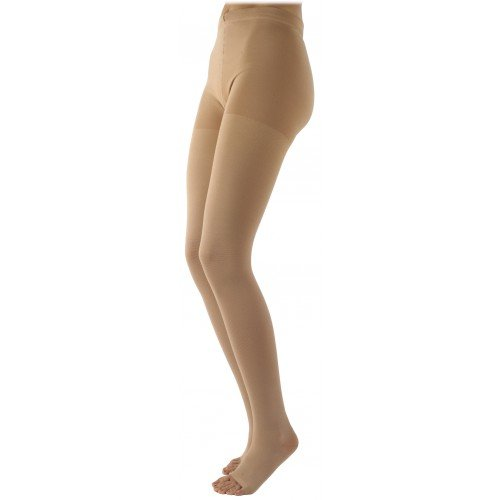 Sigvaris 500 Natural Rubber Thigh High Compression Stockings No Grip-Top - 505T OPEN TOE 50-60 mmHg
