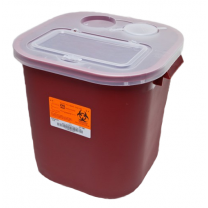 8 Gallon Red Stackable Sharps Container with Biohazard Symbol 8705