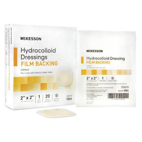 Hydrocolloid Dressing with Film Backing 2 x 2 Inch - Sterile