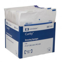 Covidien 7084 Curity 4 x 4 Inch Dressing Sponges 6 Ply, Sterile