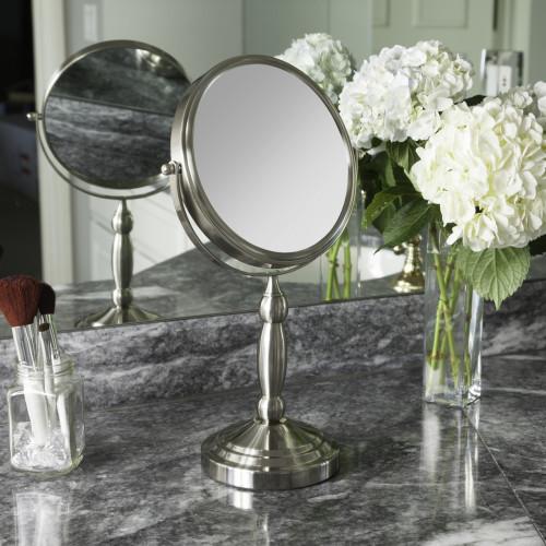 Two-Sided Vanity Swivel Mirror 10X/1X