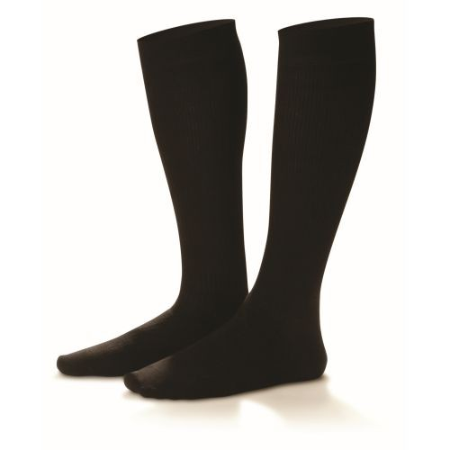 Cotton Casual Socks, 20-30 mmHg, Black
