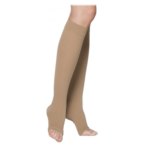 Sigvaris 230 Cotton Series Unisex Knee High Compression Socks - 232C OPEN TOE 20-30 mmHg
