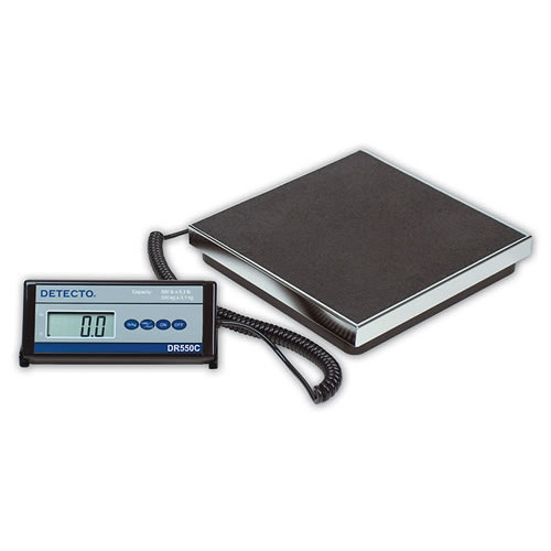 Detecto 550C Stainless Steel Digital Visiting Nurse Scale DR