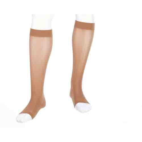 Mediven Plus Knee High Compression Stockings Extra Wide w/ Calf Silicone Top Band OPEN TOE 30-40 mmHg