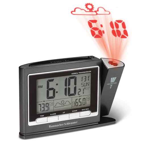 Hammacher Schlemmer 90395 Projection Dual Alarm Clock