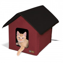 Outdoor Heated Kitty House Barn