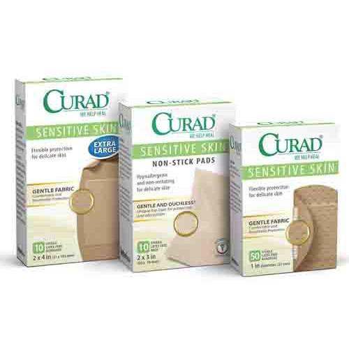 CURAD Sensitive Skin Bandages, Latex Free