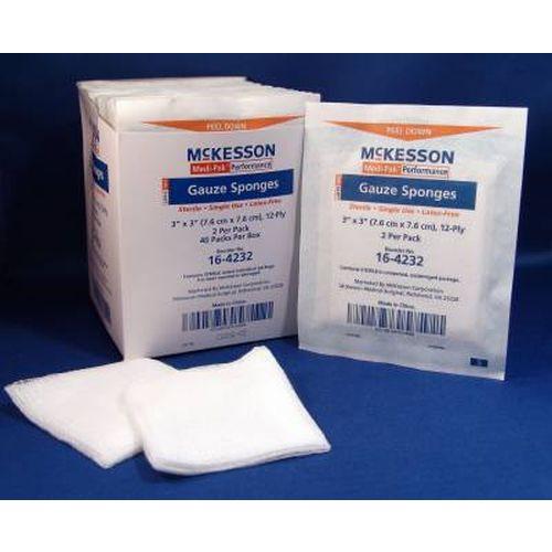 McKesson 16-4232 Gauze Sponges 3x3 Inch 12 Ply Sterile