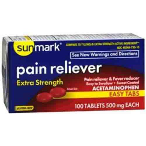 Extra Strength Pain Reliever Easy Tabs by Sunmark