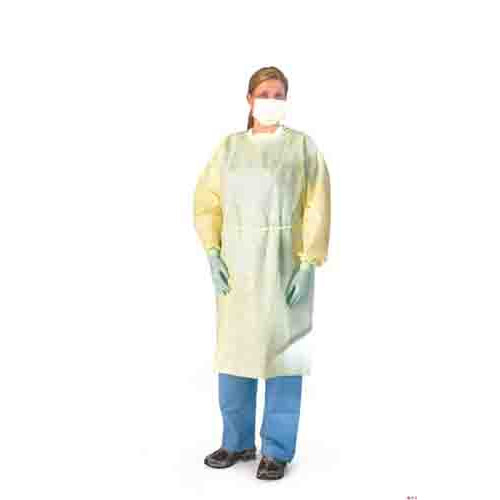 Medline NON27236 Lightweight Multi-Ply Fluid Resistant Isolation Gowns, Latex Free