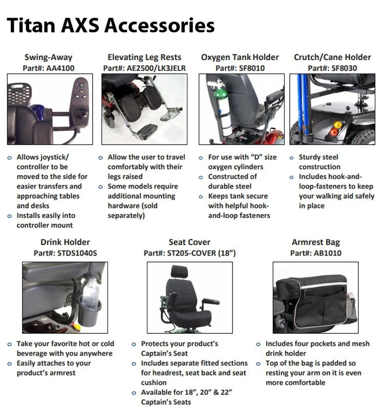 titan axs mid wheel drive powerchair 912