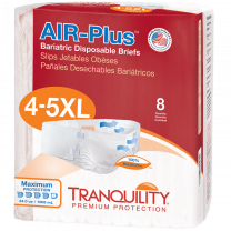 Tranquility Air Plus Bariatric Brief 4 - 5X-Large Maximum Absorbency