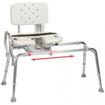 Transfer Bench with Back Cut-Out Molded Swivel Seat