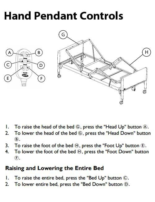 invacare manual hospital bed | 5703ivc adjustable bed frame.