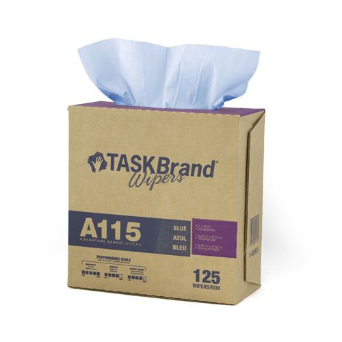 Taskbrand A105 White Creped Jumbo Roll Polywrapped Wipers