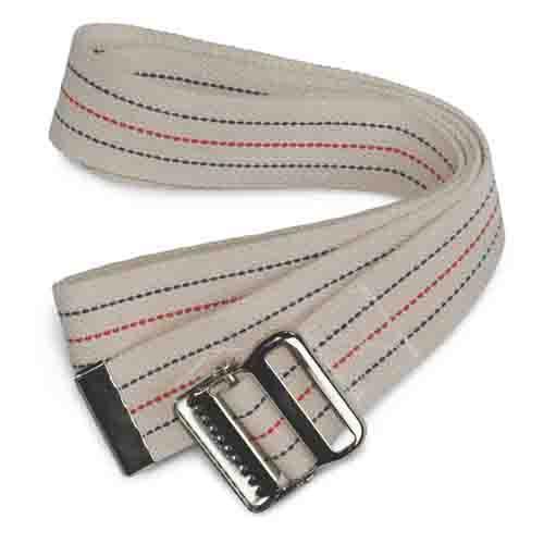 Medline Cotton Gait Belt MDT828203 Red, White & Blue Stripes