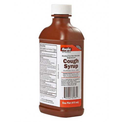 Rugby Cough Syrup W Guaifenesin 16 Oz Bottle Vitality