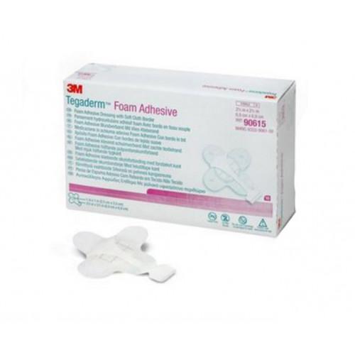 Tegaderm Foam Adhesive 90615   Round Pad, Mini Wrap - 2-3/4 x 2-3/4 Inch, Pad 1 x 1 Inch by 3M