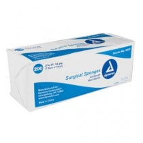 Dynarex 3223 Surgical Gauze Sponges 2 x 2 Inch, 12 Ply - Sterile