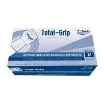 ProWorks Total Grip Latex Exam Grade Powder Free Gloves